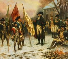 George Washington with a Flag from the Battle of Trenton
