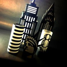 NYC Luminary Chrysler Building Cut Paper Lantern by MinksPaperie @jenniepuns