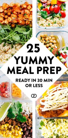 These 25 healthy meal prep recipes and super easy to make for beginners AMAZING recipe ideas ready in 30 minutes or less So good to prep for breakfast lunch and dinner Ne. Easy Healthy Meal Prep, Healthy Sweet Snacks, Healthy Food Delivery, Easy Healthy Recipes, Lunch Recipes, Eating Fast, Clean Eating Snacks, Healthy Eating, Snacks Under 100 Calories