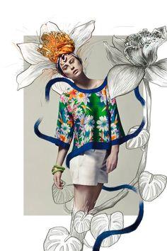 Стильные примеры fashion-коллажей