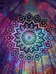 Find images and videos about art, galaxy and mandala on We Heart It - the app to get lost in what you love. Mandala Art, Design Mandala, Mandala Pattern, Mandala Tapestry, Image Citation, Psy Art, Psychedelic Art, Fractal Art, Sacred Geometry