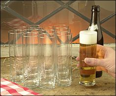 """Kölsch Beer Glasses , $13.95 dz....These are the champagne flutes of the beer world, only 2"""" in diameter and just shy of 6-1/2"""" tall. Their appeal comes not only from their history and their classic design, but also from the thin (0.040"""") sidewall glass; it is like drinking from fine porcelain or crystal. They are suited to any tall, cool drink. With a 3/8"""" thick bottom, they are both stable and sturdy, yet only half the weight of usual glasses of the same volume."""
