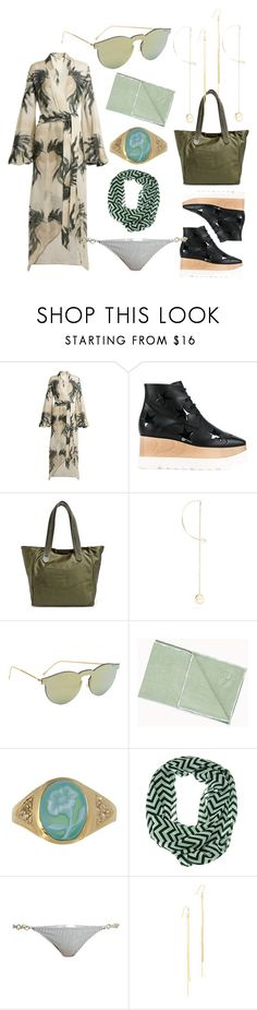 """fashion for alert"" by denisee-denisee ❤ liked on Polyvore featuring ADRIANA DEGREAS, STELLA McCARTNEY, Delfina Delettrez, Illesteva, Manduka, Jacquie Aiche, Made By Dawn, Kenneth Jay Lane and vintage"