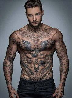 Top 144 Chest Tattoos for Men                              …