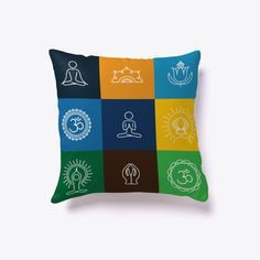 Yoga Poses Limited Edition   Pillow White T-Shirt Back