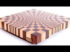 "3D end grain cutting board #1 to make with the use of 13"" planer. Free plans. - YouTube"
