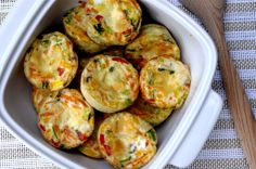 Egg Muffins - make these in a jiffy and keep them around for quick snacks or breakfast-on-the-go.
