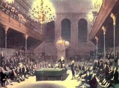 Whigs v. Tories (RegencyHistory.net) (print: The House of Commons from The Microcosm of London (1808-10))