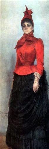 Portrait+of+Baroness+Varvara+Ikskul+von+Hildenbandt+-+Ilya+Repin