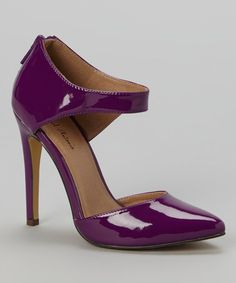 Look what I found on #zulily! Purple Patent Lamont Pump by Michael Antonio #zulilyfinds