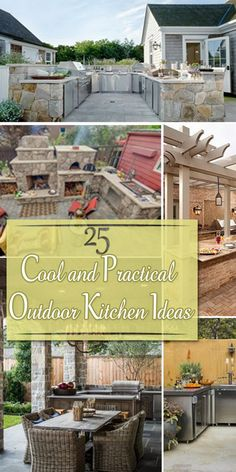Cool and Practical Outdoor Kitchen Ideas!