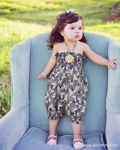 "Girls Toddler Baby Girl Bubble Romper Girls Sunsuit from the ""Little Dames Collection"" by Peepz n Pretzelz on Etsy, $42.99"