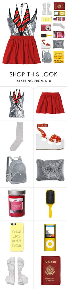 """♡ they traded brass monkey for a disco ball"" by deli-lemonade ❤ liked on Polyvore featuring Marco de Vincenzo, Pepper & Mayne, Miu Miu, Nine West, Pier 1 Imports, Illume, Denman, Casetify, Passport and kitchen"