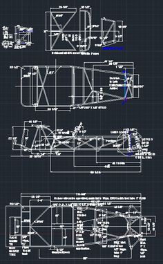 Lotus Super 7 Series 2 Chassis Frame DWG CAD
