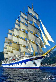Modern sailing ship