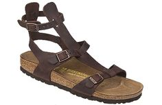 Birkenstock Chania Habana Oiled Leather A sandal for the urban gladiatress! This delicate sandal is designed for adventurous women on the go, with three points of adjustment for a perfect fit. Unlike its predecessor, this one has Birkenstocks classic cork footbed for perfect support. #birkenstock #birkenstockexpress.com  $120