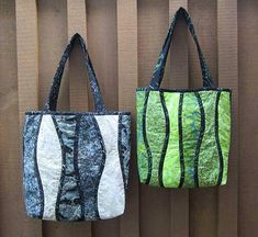 """Designs to Share with You quilt pattern - Tote to Go - designed by Ursula Riegel  No curved piecing! Just """"Press & Stitch"""".  This ultimate quilt-as-you-go method for curves allows you to attempt otherwise difficult designs with ease and accuracy. No piecing necessary. Just press the"""