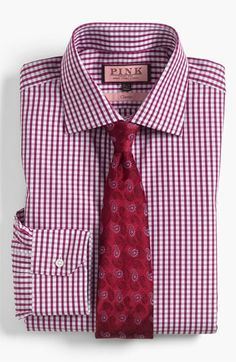 Thomas Pink Dress Shirt & Tie | Nordstrom