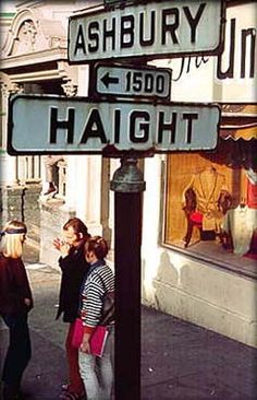 Haight-Ashbury is a district of San Francisco, California, named for the intersection of Haight and Ashbury streets, known for its history of hippie subculture.