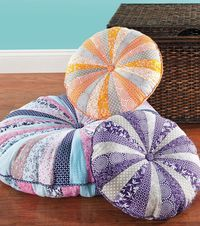 """18"""" Round Floor Pillow DIY - create personalized meditation pillows or use during ritual time."""