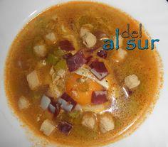 sopa de esparragos con jamon y huevo