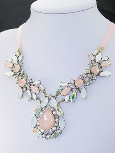 Cotton Candy Ribbon Necklace