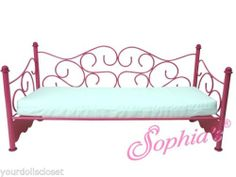 Hot Pink Wire Day Bed Sofa Mattress Bedding Sold Seperatly Fits American Girl