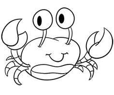 joli crabe coloriage