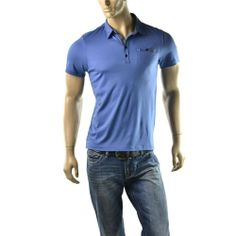 Calvin Klein Polo Shirt Mens Liquid Cotton Short Sleeve T Shirts Size S NEW $65  | Get Dressed at http://ImageStudio714.com http://stores.ebay.com/ImageStudio714