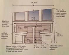 sizing guide for banquette seating - Google Search More