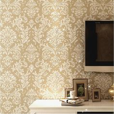 Find More Wallpapers Information about Glitter italian non woven wallpaper background wall damask wallpaper for living room wall papers home decor bedroom wallpaper,High Quality european coffee,China coffee Suppliers from Kenny Service Limited on Aliexpress.com