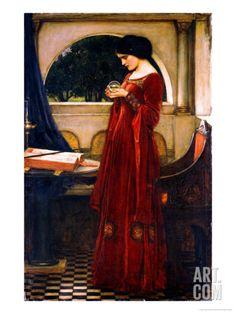 The Crystal Ball, 1902 Art Print by John William Waterhouse at Art.com
