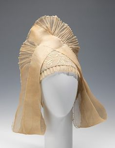 Headdress;  House of Lanvin  (French, founded 1889);  Designer: Jeanne Lanvin (French, 1867–1946); 1925; French; cotton, silk