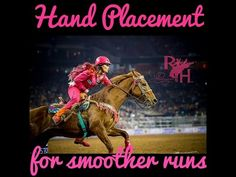 For Smoother Barrel Runs Use This Simple Hand Placement - Barrel Racing Wire