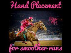 Hand Placement for Smoother Barrel Racing Runs - YouTube barrel racing tips, barrel racing lessons, Fallon taylor, barrel racing