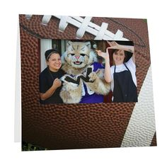 Football Instax frame from StudioStyle.com - This football-themed frame works great for candid sports event photos, athletic booster club giveaways, senior night photo favors, or youth camp picture frames. Parents will love the keepsake! Just add your school mascot, event logo, or personalization.   Holds an Instax 200, 210, or 300 Instant Film Camera print.