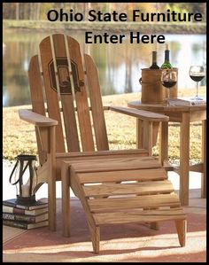 Arthur Lauer is the official USC teak furniture supplier. One of a kind USC teak chair. Teak Outdoor Furniture, Outdoor Chairs, Outdoor Decor, Ohio State University, Ohio State Buckeyes, Ohio State Gifts, Teak Adirondack Chairs, Teak Garden Bench, Wood Projects