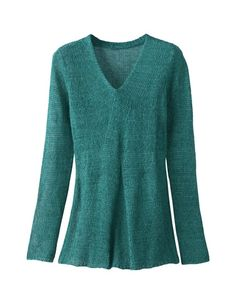 Gored pullover sweater