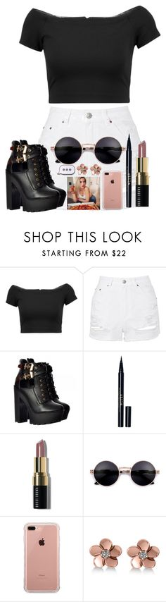 """I'm super tired 😴"" by likeacami ❤ liked on Polyvore featuring Alice + Olivia, Topshop, Stila, Bobbi Brown Cosmetics, Belkin, Allurez and PINTRILL"