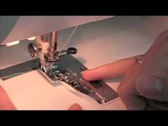 How to use a Rolled Hem Presser Foot, I really like her tip at the end for roll hemming a skirt.