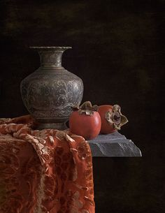 Still Life with Persimmons Still Life Images, Still Life Art, Still Life Photography, Art Photography, Landscape Photography, Tabletop Photography, Fashion Photography, Wedding Photography, Underwater Photography