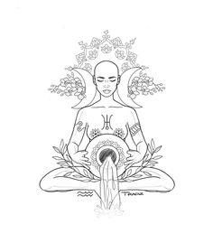 Login - Login You are in the right place about Login Tattoo Design - Aquarius Art, Aquarius Tattoo, Aquarius Zodiac, Tattoo Drawings, Body Art Tattoos, Art Drawings, Goddess Tattoo, Moon Goddess, Moth Tattoo