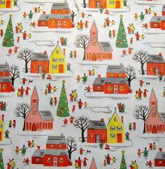 vintage wrapping paper - reminds me of childhood