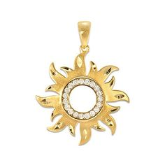 "A yellow gold pendant Seventeen faceted round Diamonds totaling carats, total weight ""Sun"" design Approximately: 1 (including bail) x Shop chains now Diamond Jewelry, Gold Jewelry, Tiffany Jewelry, Jewellery, Gold Pendent, Hawaiian Jewelry, Sun Designs, Best Friend Jewelry, Gold Locket"