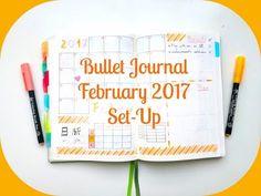 Bullet Journal | February 2017 Set-Up - YouTube
