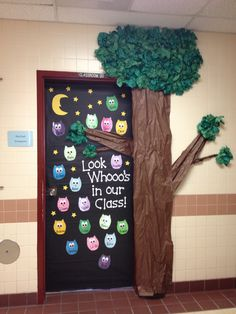 Owls Classroom Door made by Amanda Beda Eash