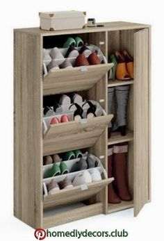 56 Shoes Storage Rack Design Ideas The next issue whenever you are searching for a shoe rack is the storage capacity. Additionally, additionally, it has to […] Diy Shoe Rack, Shoe Storage Cabinet, Storage Cabinets, Shoe Racks, Shoe Rack Furniture, Home Furniture, Furniture Design, Dream Furniture, Shoe Drawer