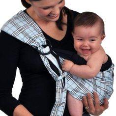 ebef1e8c95b Balboa Baby Dr. Sears Original Adjustable Baby Sling in Blue Black Plaid  Nursery Room
