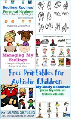 In need of some visual aids for your autistic child? Check out this list of free printables for autistic children. In need of some visual aids for your autistic child? Check out this list of free printables for autistic children. Autistic Toddler, Activities For Autistic Children, Children With Autism, Preschool Autism Activities, Toddler Speech Activities, Aba Therapy Activities, Preschool Plans, Sorting Activities, Visual Schedules