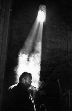 Nicolas Tikhomiroff :: Orson Welles while filming 'Chimes at Midnight', Spain, 1964